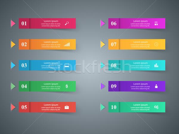 дизайна список 10 бизнеса Инфографика Сток-фото © rwgusev