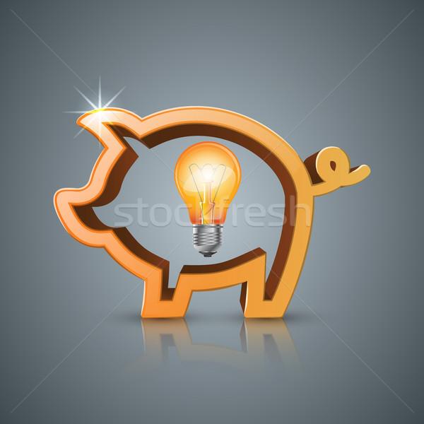 Domuz para iş vektör eps Stok fotoğraf © rwgusev