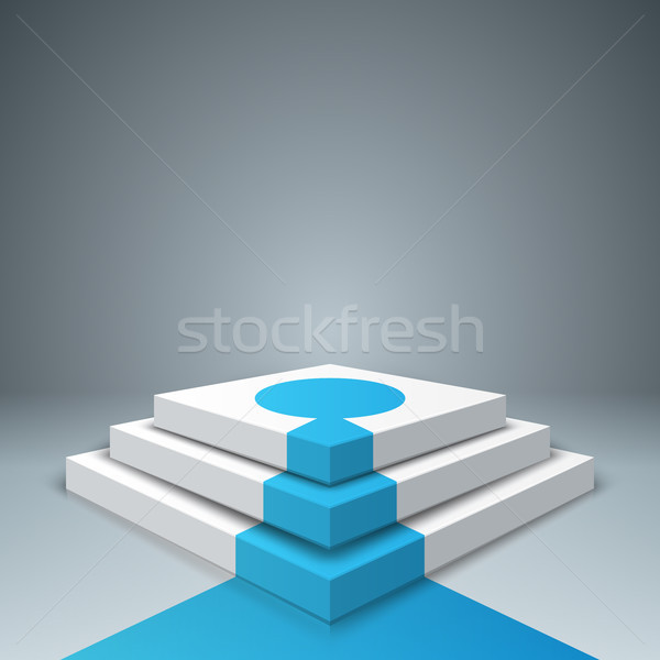 Pedestal, ladder, stail for winners - business infographic. Stock photo © rwgusev