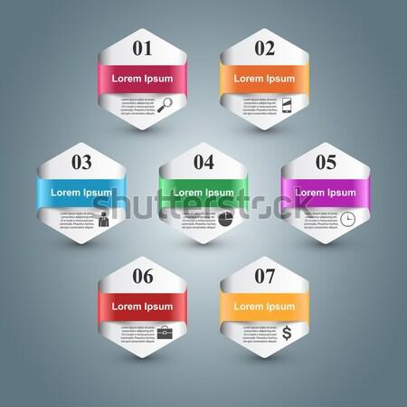 Projeto lista 10 negócio infográficos Foto stock © rwgusev