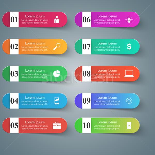 Dizayn liste 10 iş infographics Stok fotoğraf © rwgusev