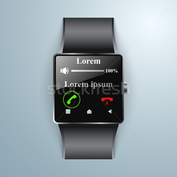Smartwatch icon. Abstract infographic. Stock photo © rwgusev