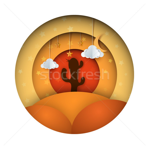 Woestijn papier illustratie vector eps 10 Stockfoto © rwgusev