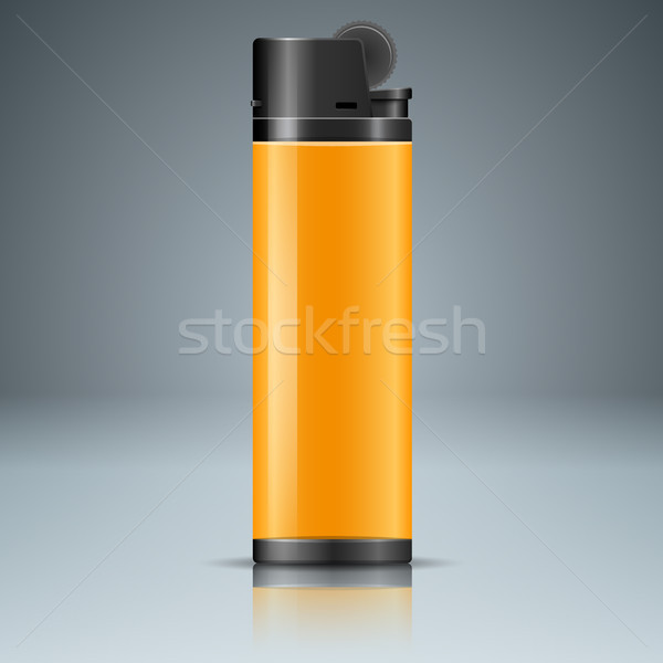 Realistic lighter with reflect on the grey background Stock photo © rwgusev