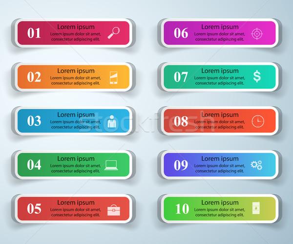 Infografía diseno lista 10 negocios infografía Foto stock © rwgusev