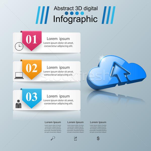 Stock fotó: Felhő · nyilak · ikon · üzlet · infografika · infografika