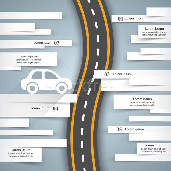 道路 インフォグラフィック デザインテンプレート マーケティング アイコン 車 ストックフォト © rwgusev