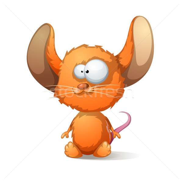Cartoon mouse with big ear Stock photo © rwgusev