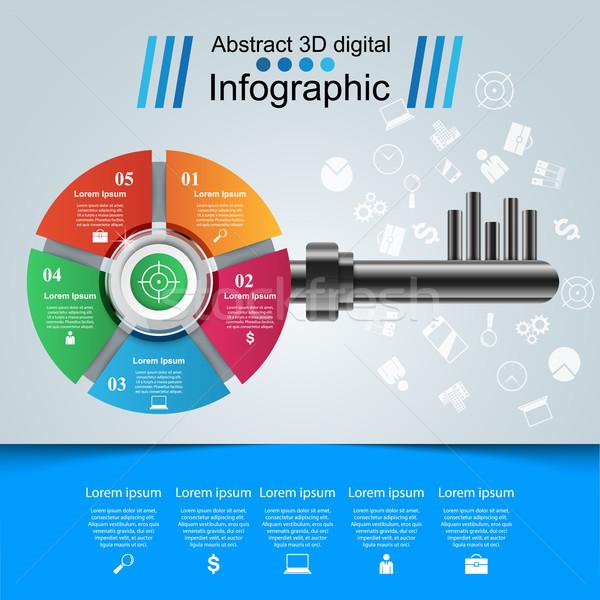 Illustratie sleutel icon business infographics Stockfoto © rwgusev