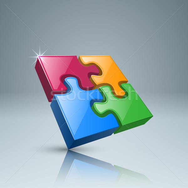 パズル ロゴ ビジネス インフォグラフィック 3D アイコン ストックフォト © rwgusev