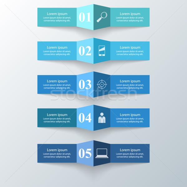 Abstract 3D afaceri infografica Imagine de stoc © rwgusev