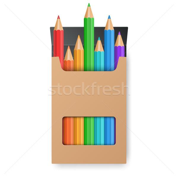Establecer amarillo cuadro vector eps10 Foto stock © rwgusev