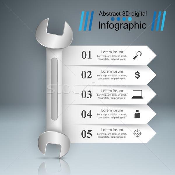 レンチ ネジ 修復 アイコン ビジネス インフォグラフィック ストックフォト © rwgusev
