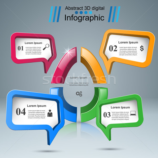 Speech bub, egg icon. Dialog box info. Stock photo © rwgusev