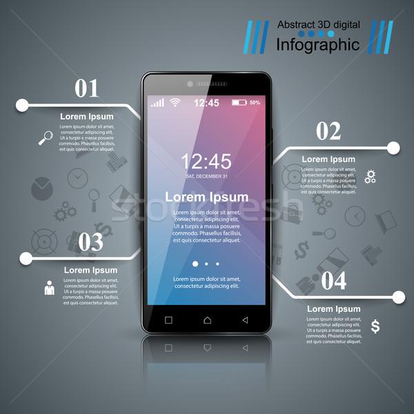 デジタル ガジェット スマートフォン タブレット アイコン ビジネス ストックフォト © rwgusev