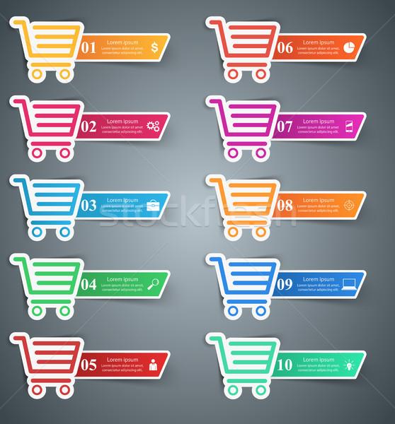 Compras ícone comprar vender ilustração Foto stock © rwgusev