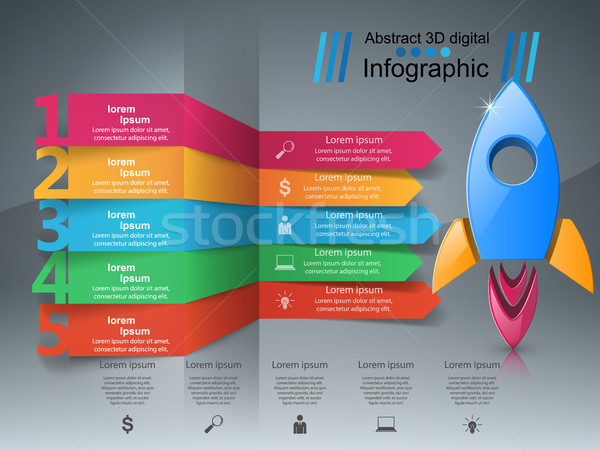 Rocket icon. Abstract  illustration Infographic. Stock photo © rwgusev