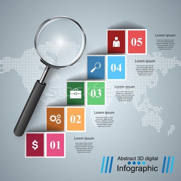бизнеса Инфографика икона реалистичный Сток-фото © rwgusev