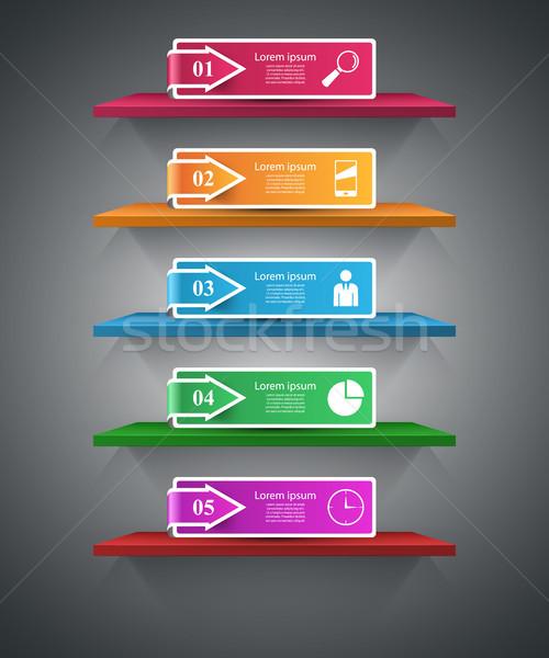 Półka pin klip papieru działalności Zdjęcia stock © rwgusev