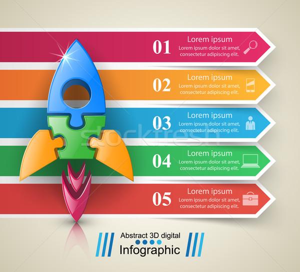 Foguete ícone abstrato ilustração logotipo Foto stock © rwgusev