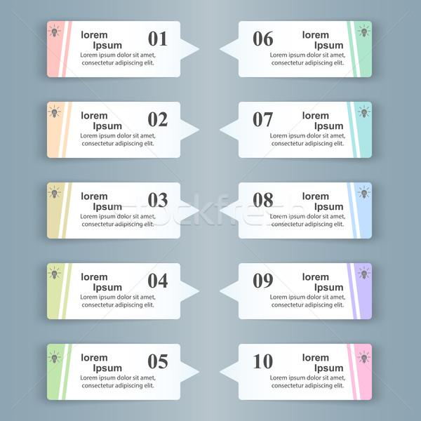 üzlet infografika origami stílus lista infografika Stock fotó © rwgusev
