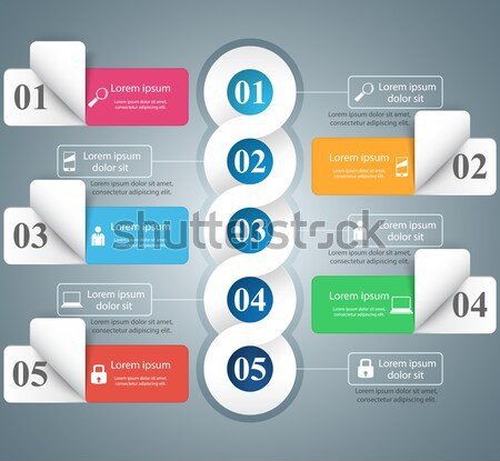 Abstract 3D digitale illustratie business infographics Stockfoto © rwgusev