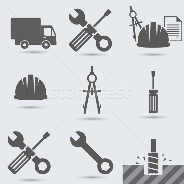 ремонта построить инструмент молота автомобилей винта Сток-фото © rwgusev