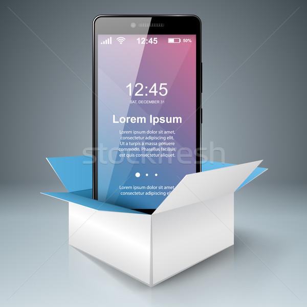 Digitale gadget smartphone tablet papier vak Stockfoto © rwgusev