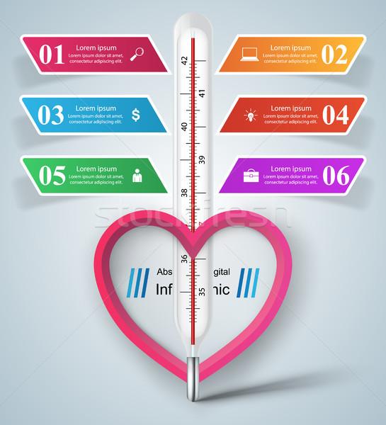 Negócio ilustração saúde temperatura fundo assinar Foto stock © rwgusev