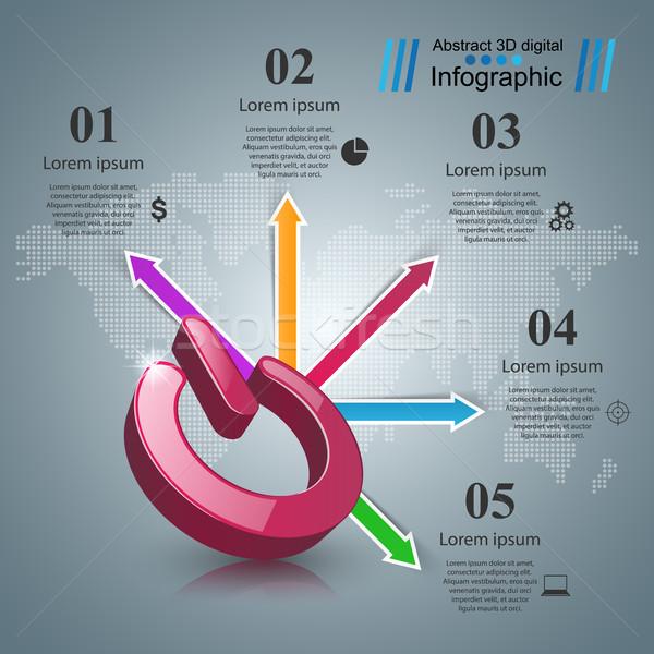 Wechseln Symbol abstrakten Business aus Stock foto © rwgusev
