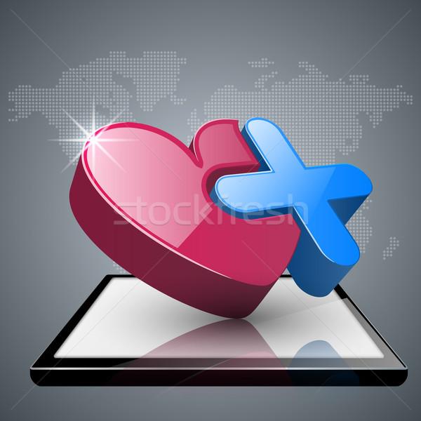 Salud icono 3D médicos infografía negocios Foto stock © rwgusev