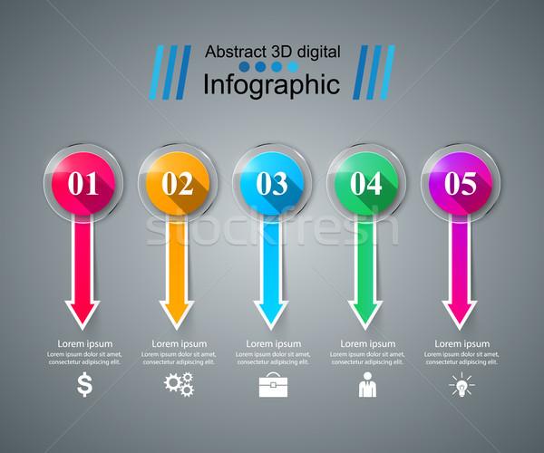 иконки Стрелки икона дизайн шаблона маркетинга Сток-фото © rwgusev