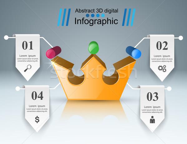 корона икона бизнеса аннотация Инфографика логотип Сток-фото © rwgusev