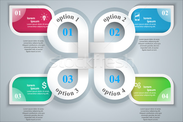 3D дизайн шаблона маркетинга иконки информации Сток-фото © rwgusev