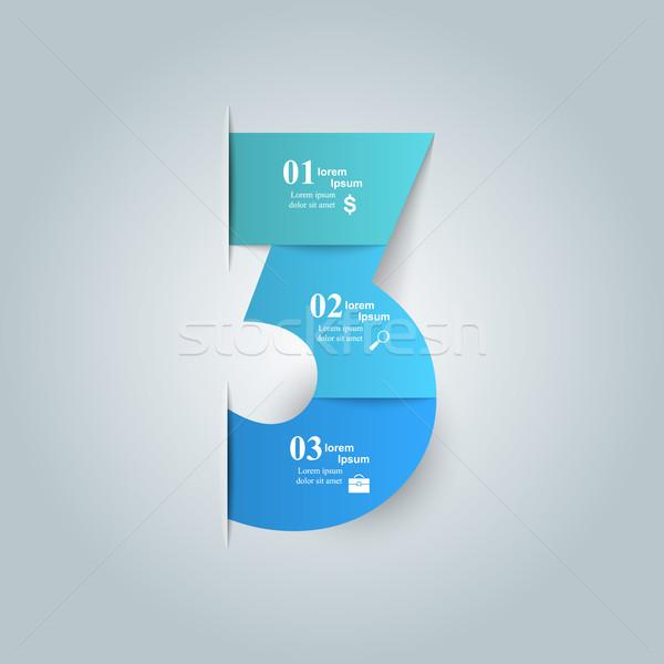 3D tasarım şablonu pazarlama simgeler iş Stok fotoğraf © rwgusev