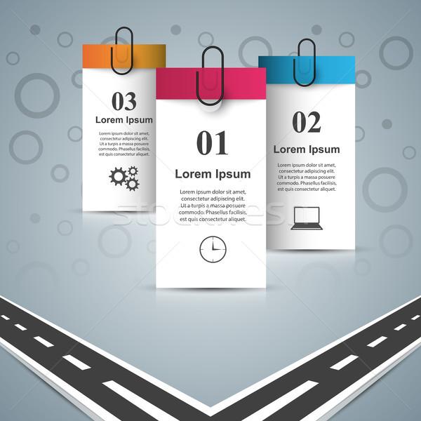Weg ontwerpsjabloon marketing iconen vector Stockfoto © rwgusev