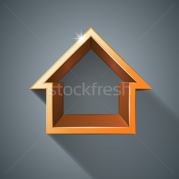 House abstract 3d icon. Stock photo © rwgusev