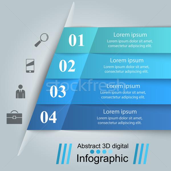 ビジネス インフォグラフィック 折り紙 スタイル インフォグラフィック デザインテンプレート ストックフォト © rwgusev