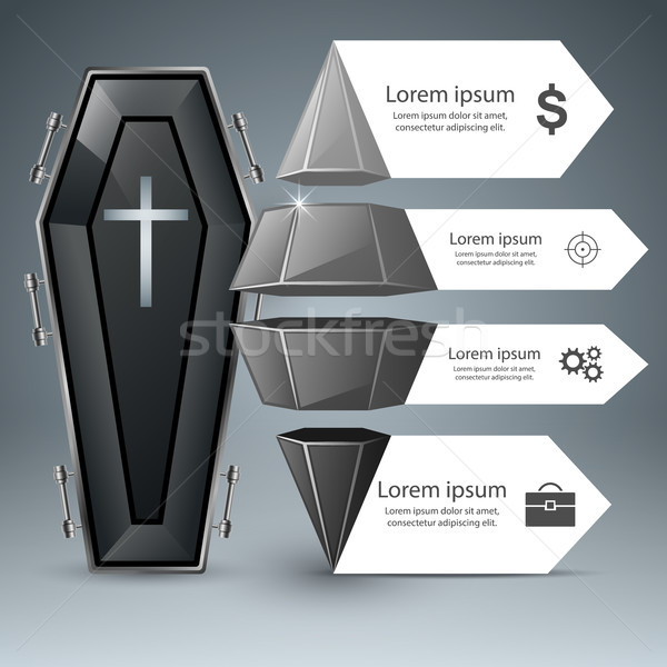 Coffin icon. Business Infographics. Stock photo © rwgusev