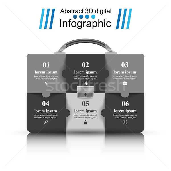 Aktatáska iroda üzlet infografika papír vektor Stock fotó © rwgusev