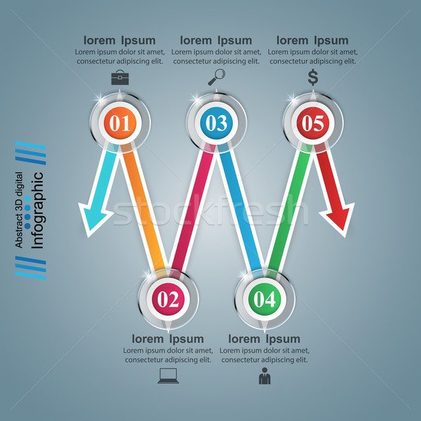 Infografika ikonok nyilak ikon design sablon marketing Stock fotó © rwgusev
