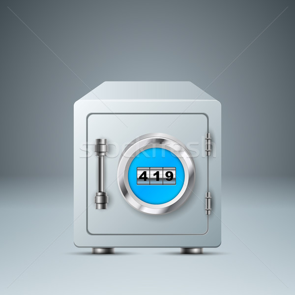 Safe, lock icon. Business infographic.  Stock photo © rwgusev