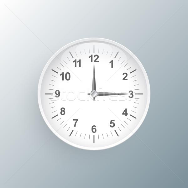Foto stock: Ver · icono · reloj · logo · gris · oficina