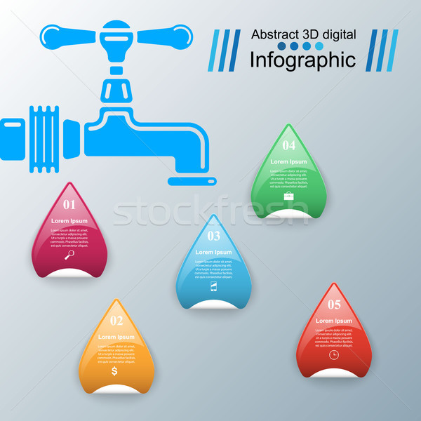 Tap icon. Business Infographics. Stock photo © rwgusev