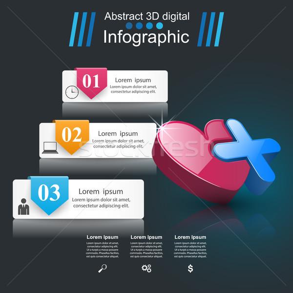 Stock fotó: Egészség · ikon · 3D · orvosi · infografika · üzlet
