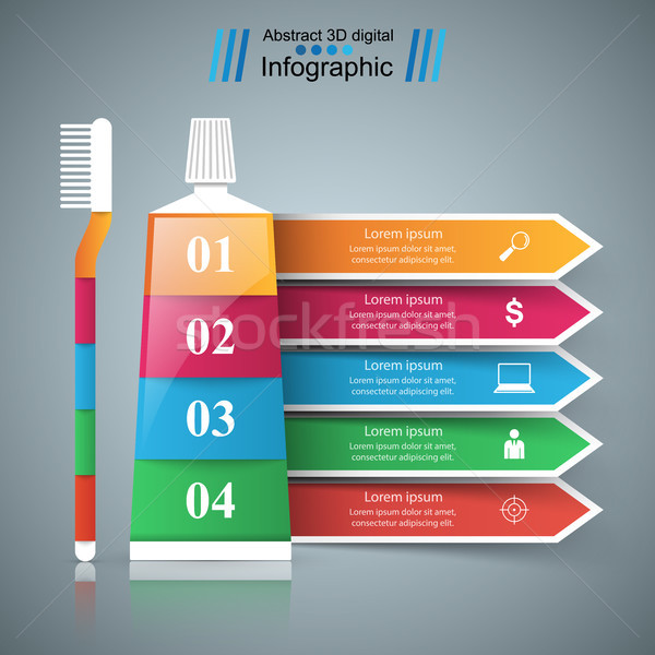 Tooth paste icon. Business Infographics. Tooth icon. Stock photo © rwgusev