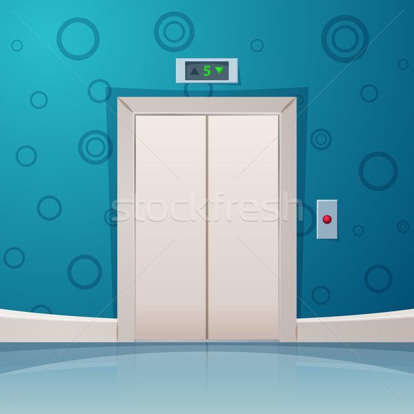 Elevator inside stock vectors illustrations and cliparts