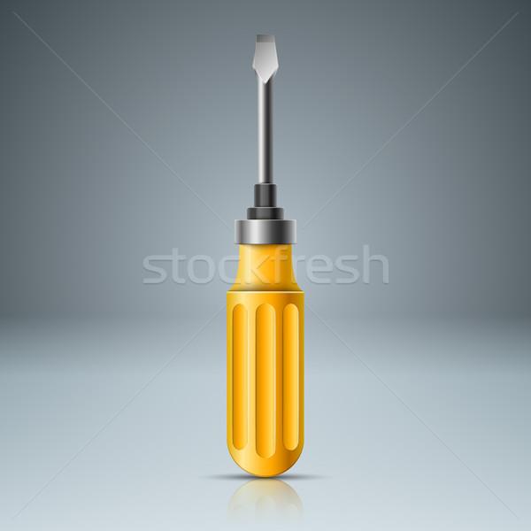 現実的な ネジ 黄色 アイコン ベクトル eps ストックフォト © rwgusev