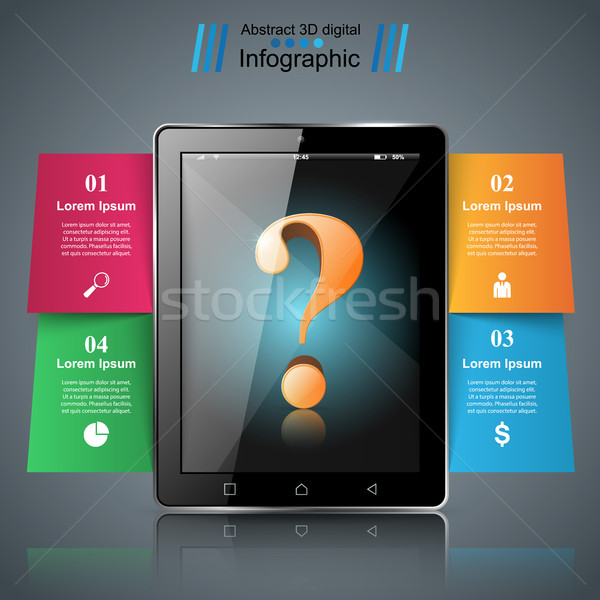 Digitale gadget smartphone tablet icon business Stockfoto © rwgusev