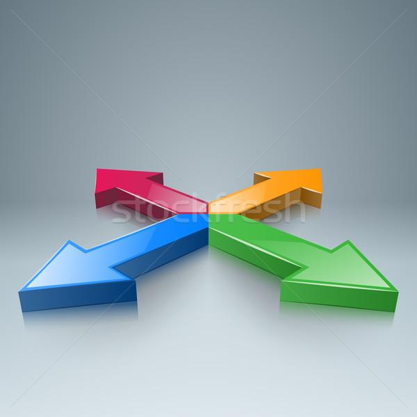 Сток-фото: аннотация · 3D · Цифровая · иллюстрация · бизнеса · Инфографика